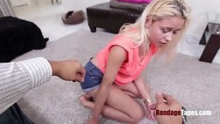 Tiny petite DAUGHTER gets abused